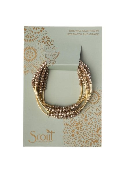 Scout Curated Wears Oyster & Gold Original Wrap Bracelet/Necklace