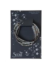 Scout Curated Wears Night & Hematite Original Wrap Bracelet/Necklace