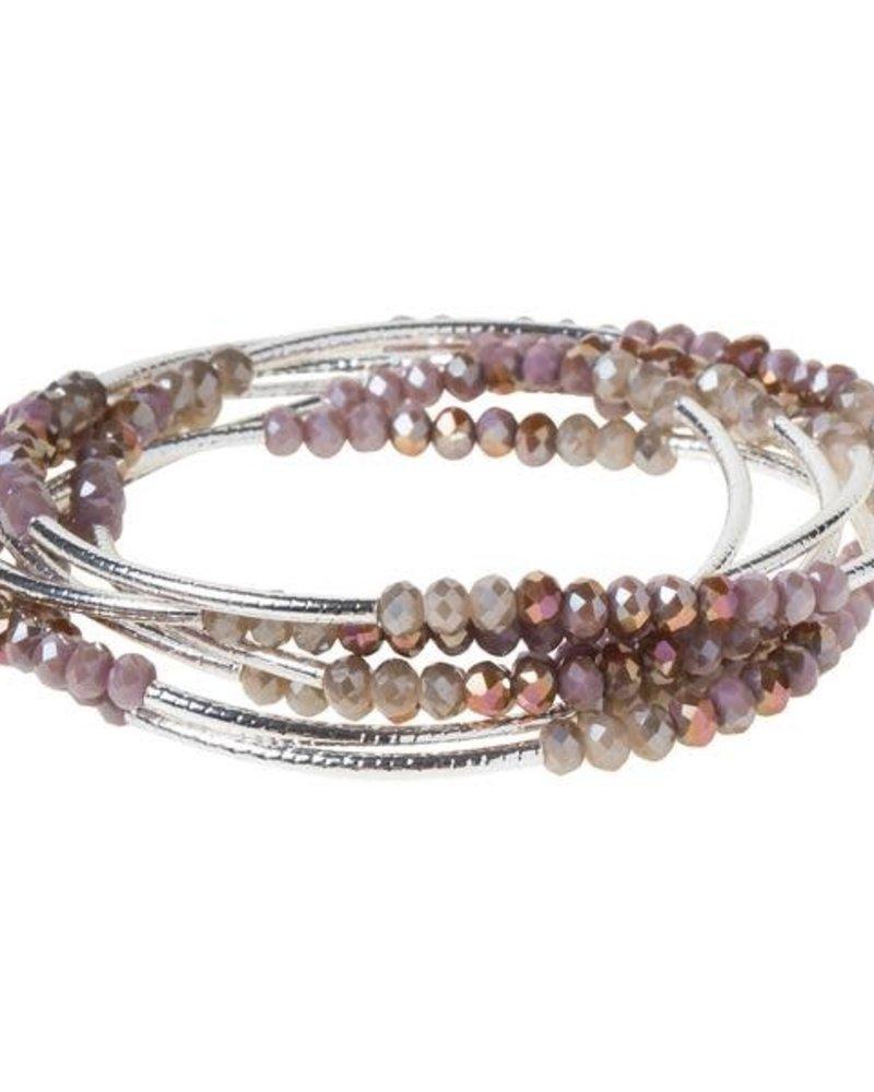 Scout Curated Wears Scout Mauve Combo & Silver Original Wrap Bracelet/Necklace