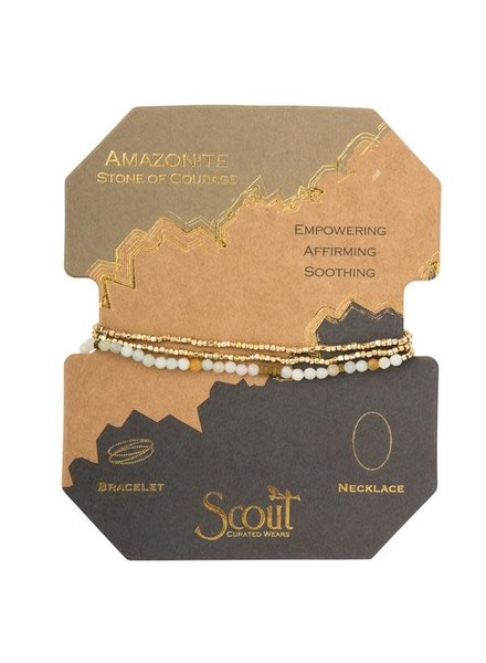 Scout Curated Wears Amazonite Delicate Stone Wrap Bracelet/Necklace
