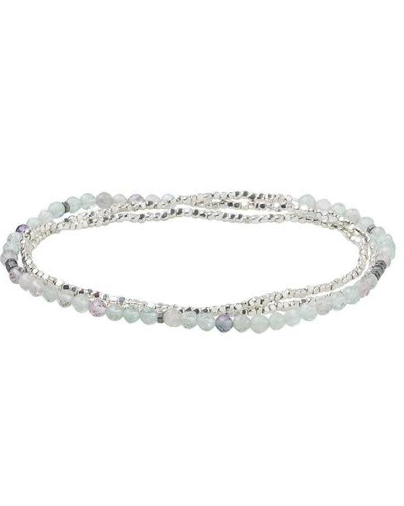 Scout Curated Wears Scout Fluorite & Silver Delicate Stone Wrap Bracelet/Necklace