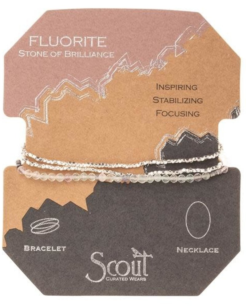 Scout Curated Wears Scout Fluorite Delicate Stone Wrap Bracelet/Necklace