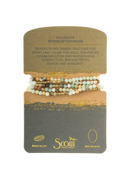 Scout Curated Wears Amazonite Stone Wrap Bracelet/Necklace