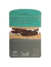 Scout Curated Wears Garnet & Silver Stone Wrap Bracelet/Necklace