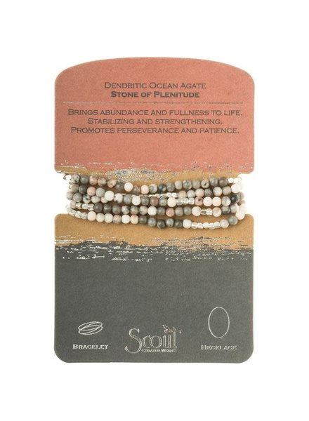 Scout Curated Wears Ocean Agate Stone Wrap Bracelet/Necklace