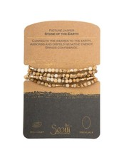 Scout Curated Wears Picture Jasper Stone Wrap Bracelet/Necklace