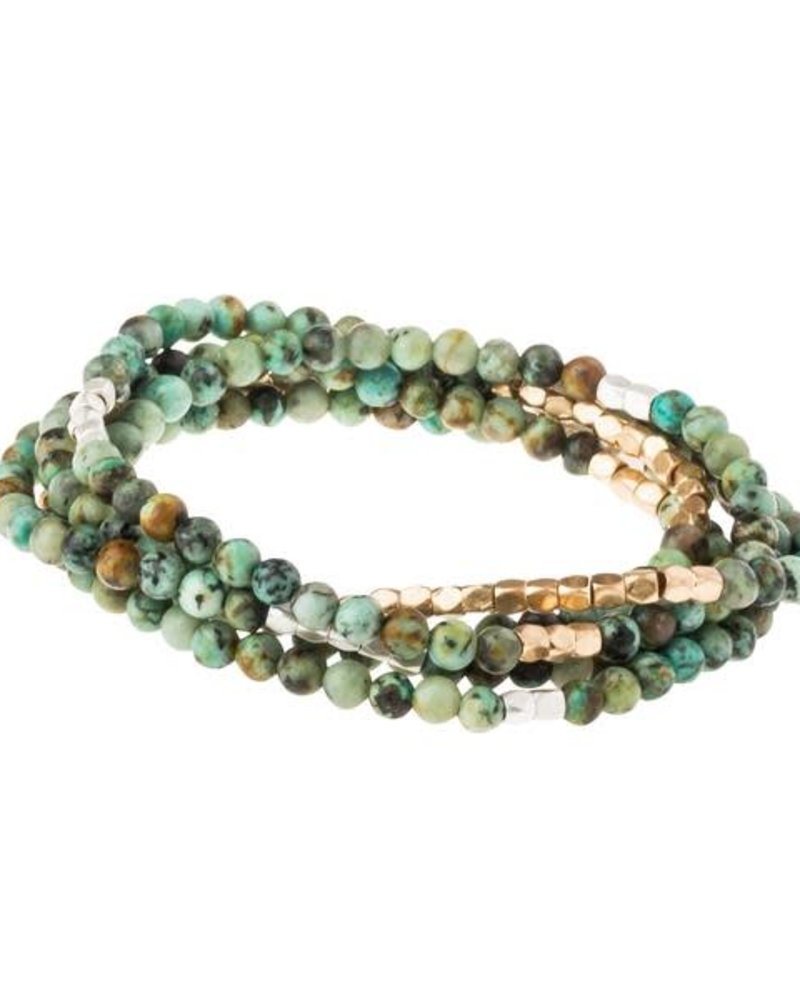 Scout Curated Wears Scout African Turquoise Stone Wrap Bracelet/Necklace