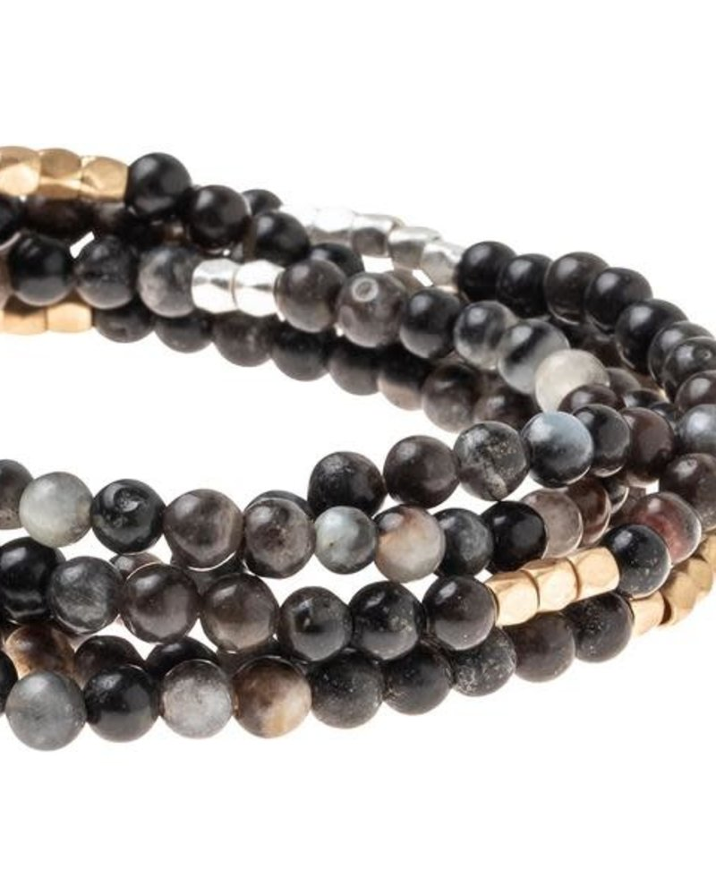 Scout Curated Wears Scout Picasso Jasper & Gold Stone Wrap Bracelet/Necklace