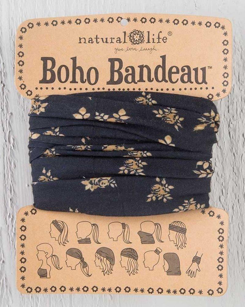 Natural Life Natural Life Boho Bandeau in Black & Cream Floral