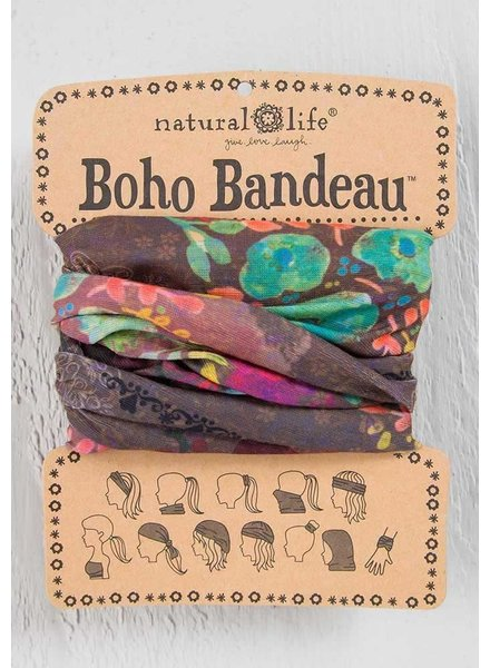 Natural Life Boho Bandeau in Espresso Bright Floral