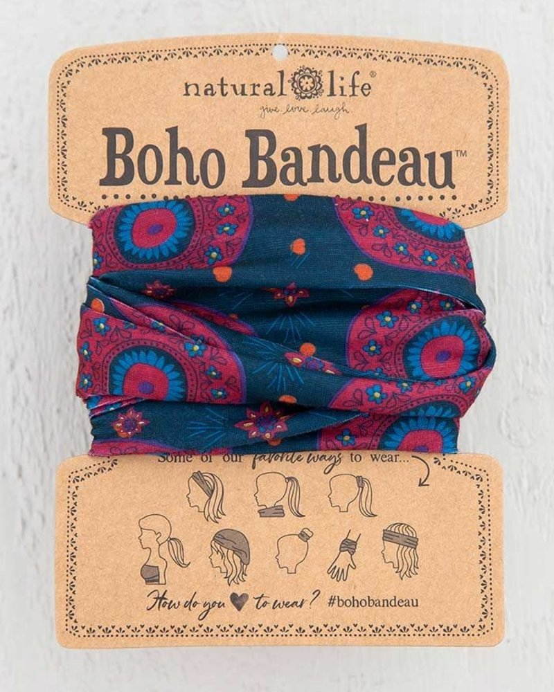 Natural Life Natural Life Boho Bandeau in Navy Berry Medallion