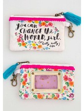 Natural Life ID Pouch - 'Change The World'