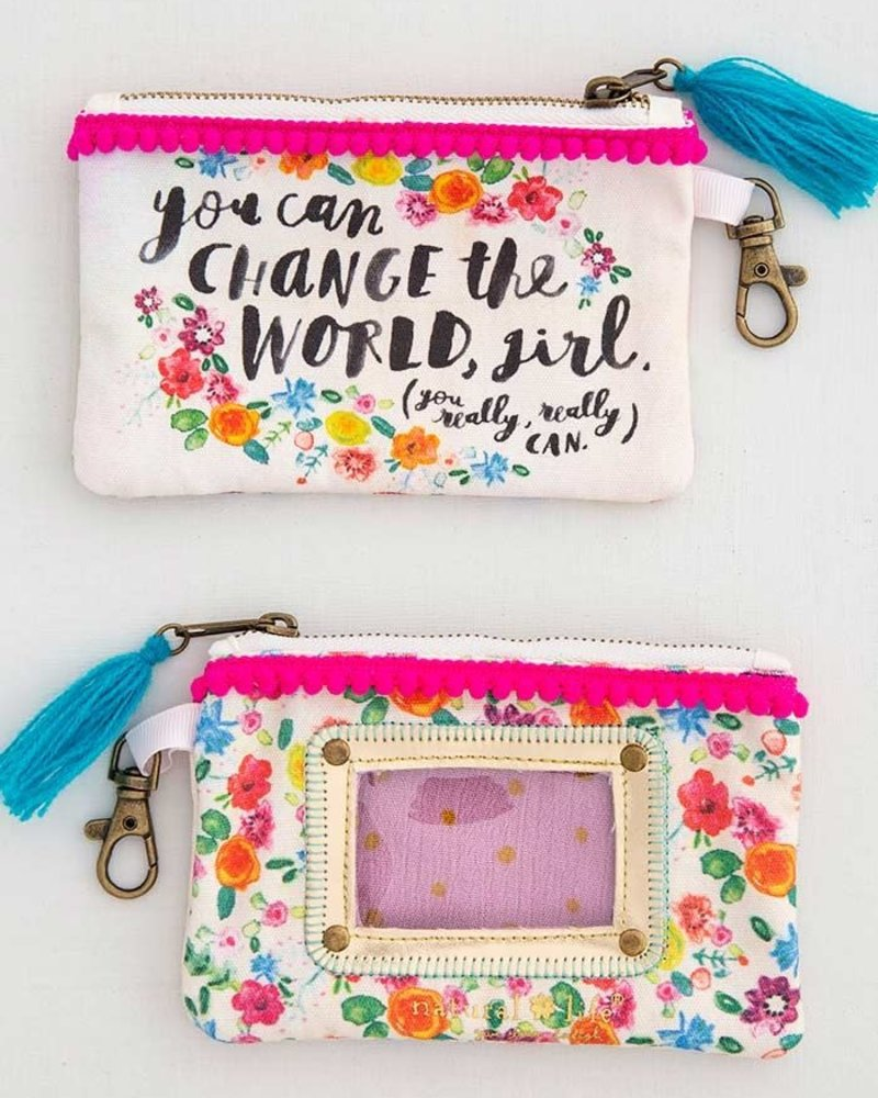 Natural Life Natural Life ID Pouch - 'Change The World'
