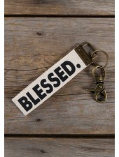 Natural Life 'Blessed' Canvas Keychain
