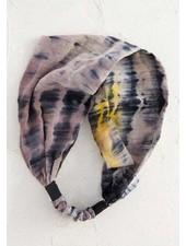 Natural Life Tie-Dye Wideband Headband in Brown