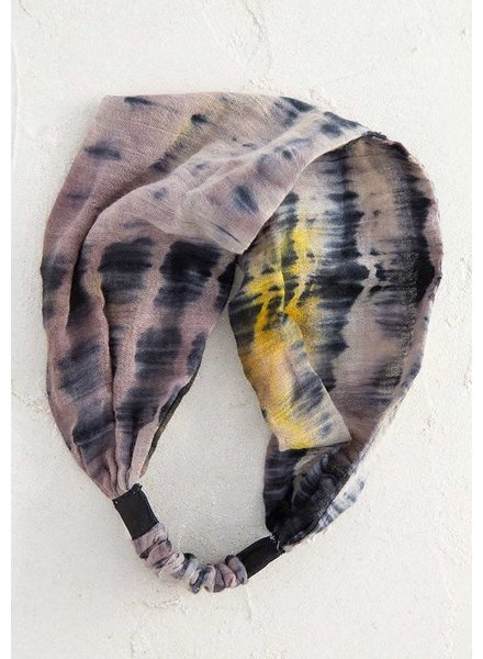 Natural Life Tie-Dye Wideband Headband in Brown
