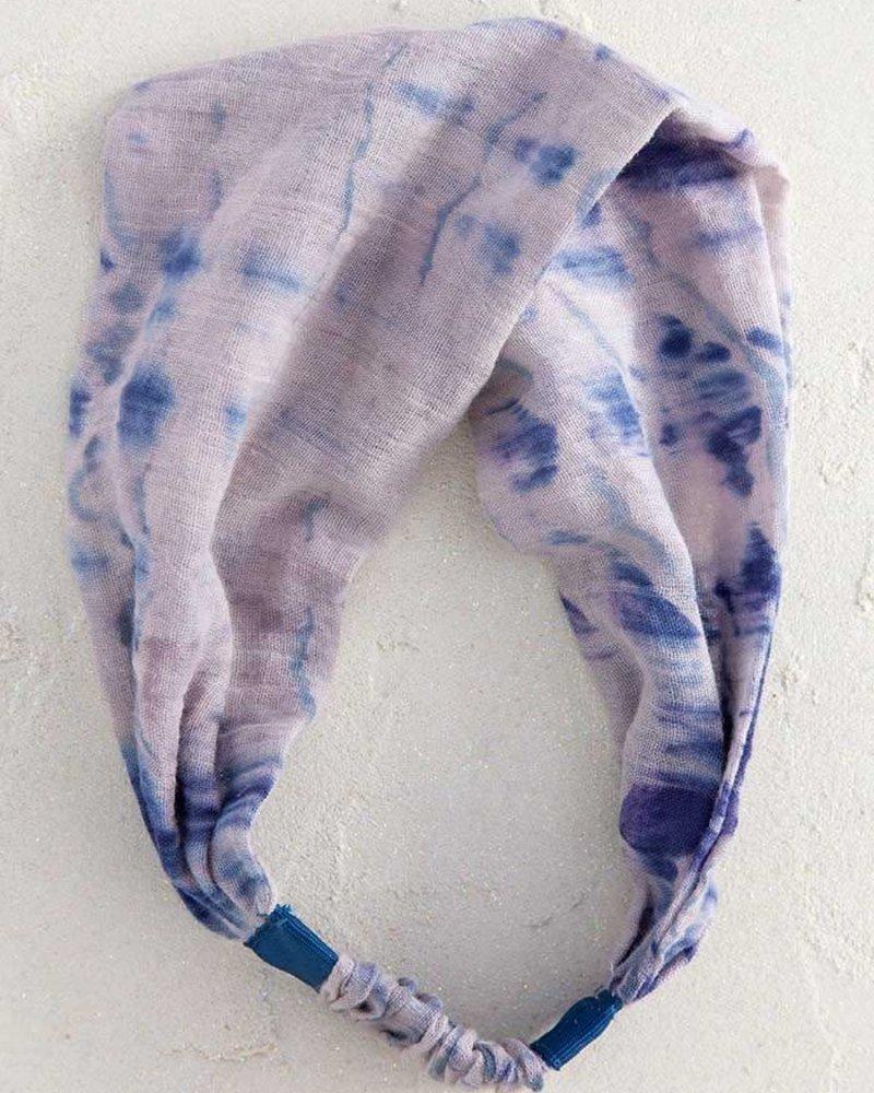 Natural Life Natural Life Tie-Dye Wideband Headband in Indigo