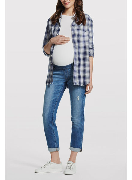DL1961 'Riley' Maternity Boyfriend Jean in Dilorio (Size 27) **FINAL SALE**