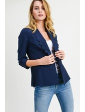 Doe & Rae 'Cut To the Chase' Scalloped Blazer