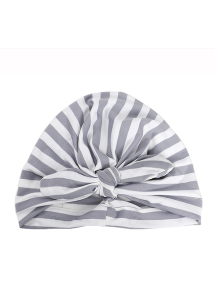 Emerson & Friends Grey Striped Baby Turban