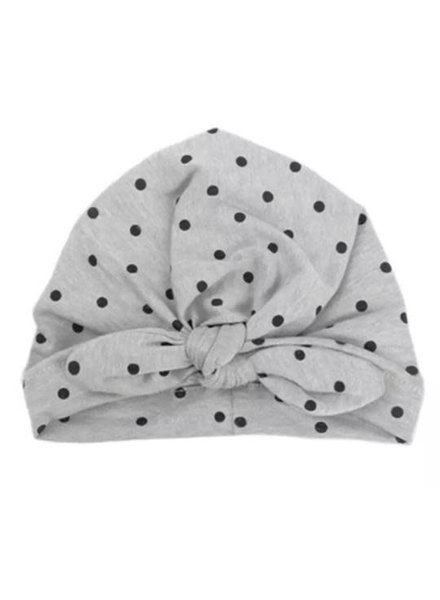 Emerson & Friends Grey Polka Dot Baby Turban