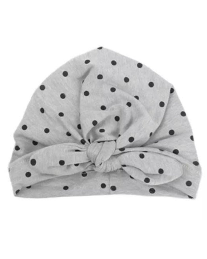 Emerson & Friends Emerson & Friends Grey Polka Dot Baby Turban