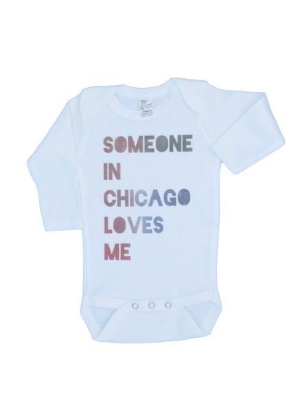 Emerson & Friends Long Sleeve 'Someone in Chicago Loves Me' Onesie