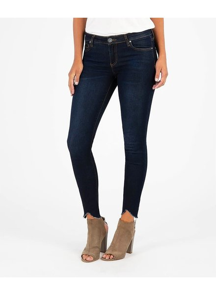 Kut from the Kloth 'Connie' Skinny Ankle Step Fray Hem Jeans in Observant