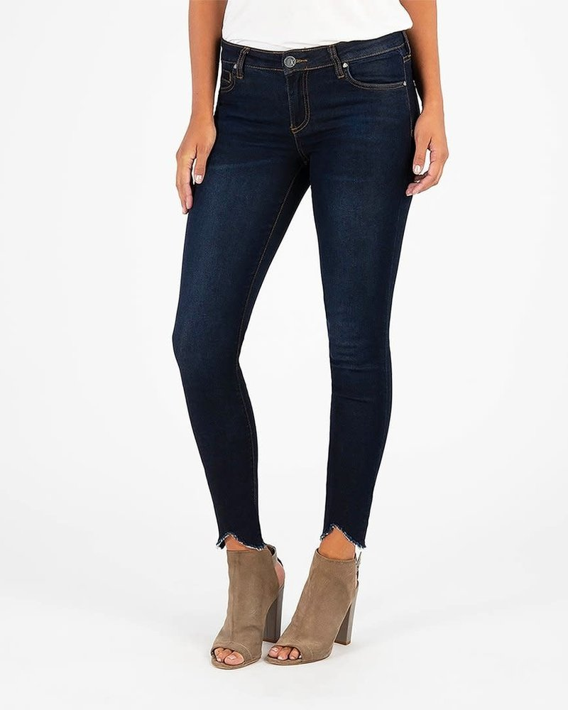 Kut from the Kloth Kut from the Kloth 'Connie' Skinny Ankle Step Fray Hem Jeans in Observant