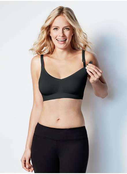 Bravado Designs Black Body Silk Seamless Nursing Bra
