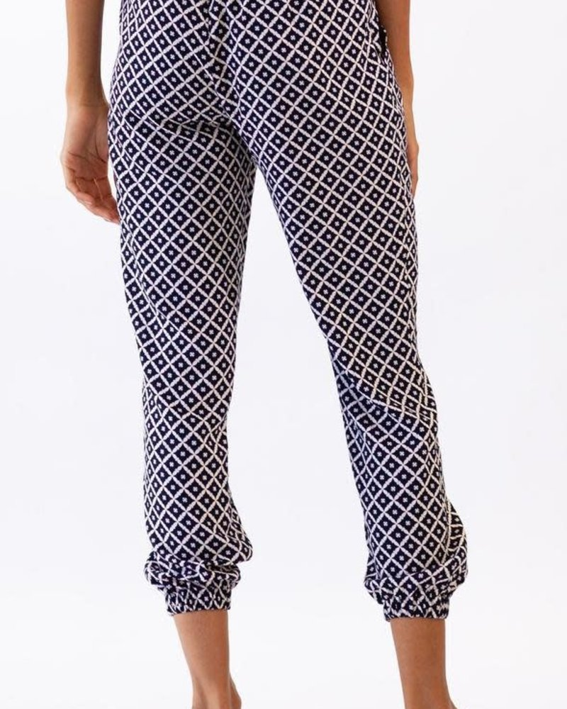Pink Martini Collection Pink Martini 'Cross Your Heart' Printed Jogger **FINAL SALE**