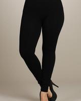 M. Rena Black Plus Size Tummy Tuck Leggings