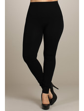 M. Rena Black Plus Size Tummy Tuck Leggings