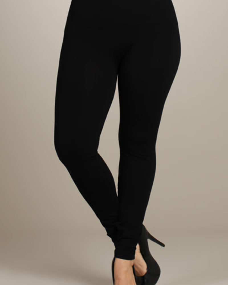M. Rena M. Rena Black Plus Size Tummy Tuck Leggings