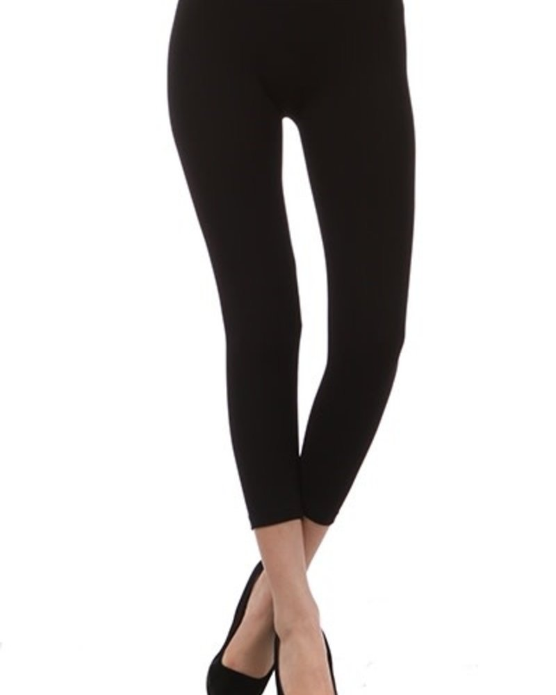 M. Rena M. Rena Black Cropped Leggings High Waisted Leggings