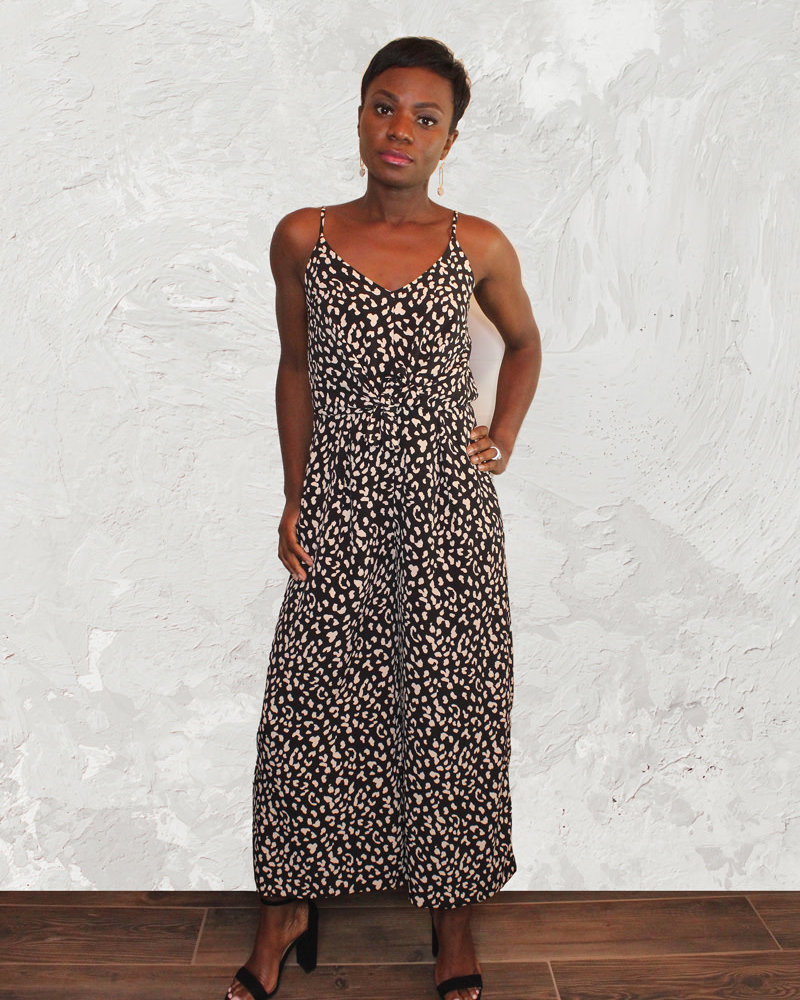 KLD Signature KLD 'Cheetah Chaser' Wide Leg Jumper