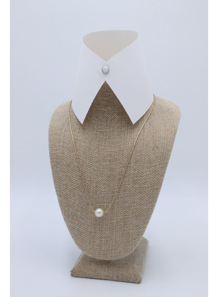 'One is the Loneliest Number' Pearl Necklace (2 Colors)