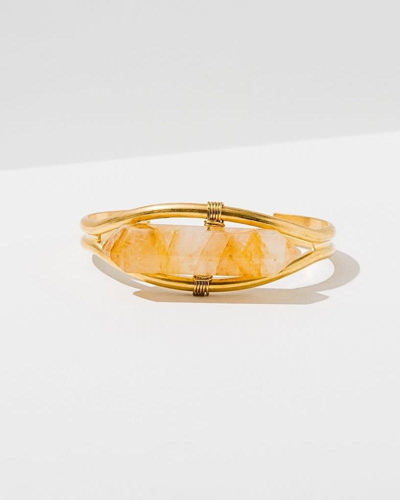 Larissa Loden Larissa Loden Citrine 'Crystal Cuff' Bracelet