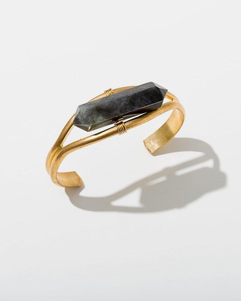 Larissa Loden Larissa Loden Labradorite  'Crystal Cuff' Bracelet