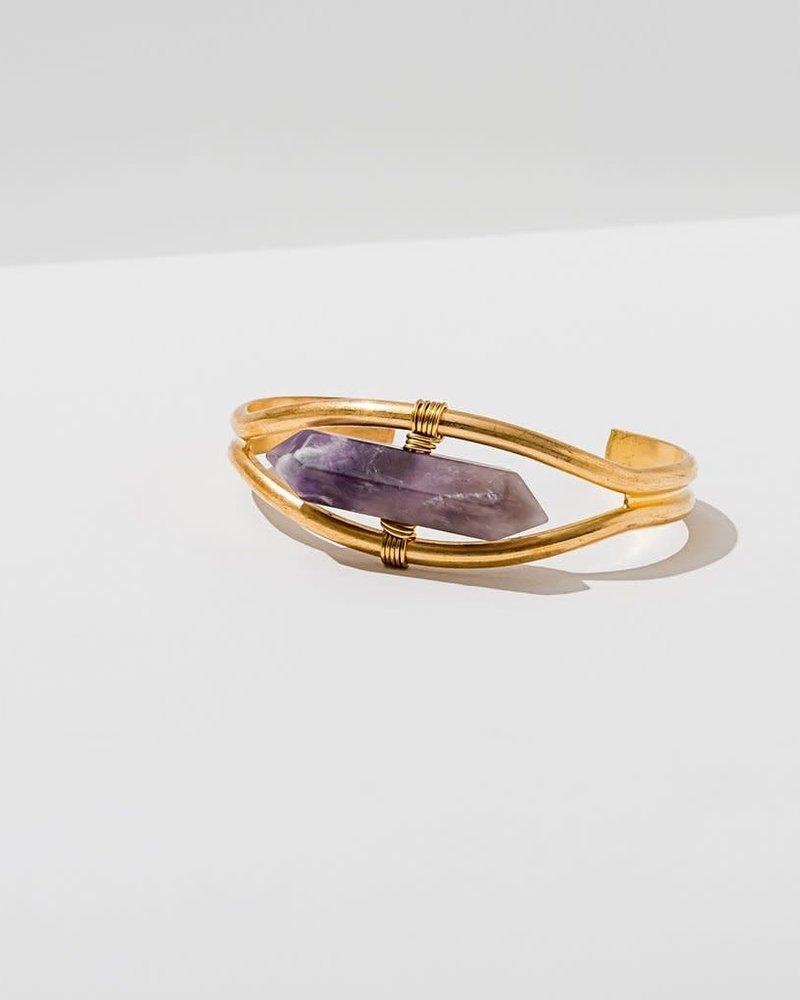 Larissa Loden Larissa Loden Amethyst 'Crystal Cuff' Bracelet