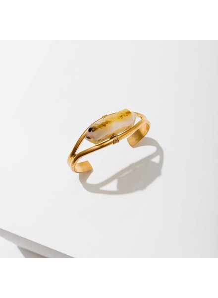 Larissa Loden Heihua Agate 'Crystal Cuff' Bracelet