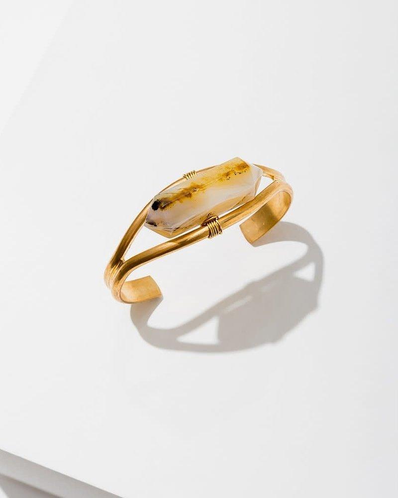 Larissa Loden Larissa Loden Heihua Agate 'Crystal Cuff' Bracelet