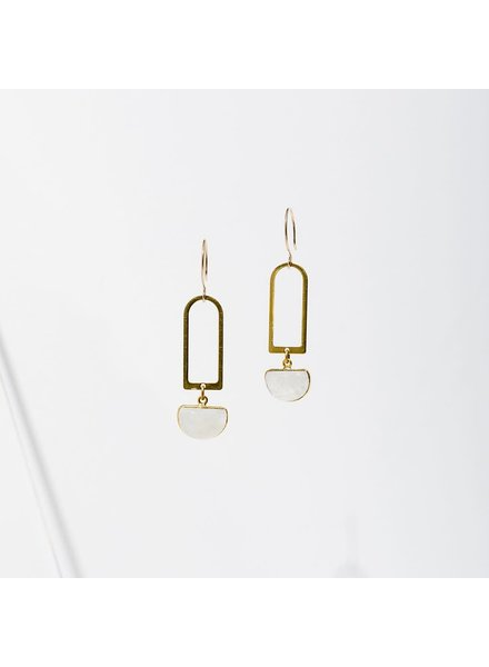 Larissa Loden Moonstone 'Casablanca' Earrings