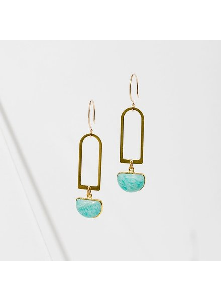 Larissa Loden Amazonite 'Casablanca' Earrings