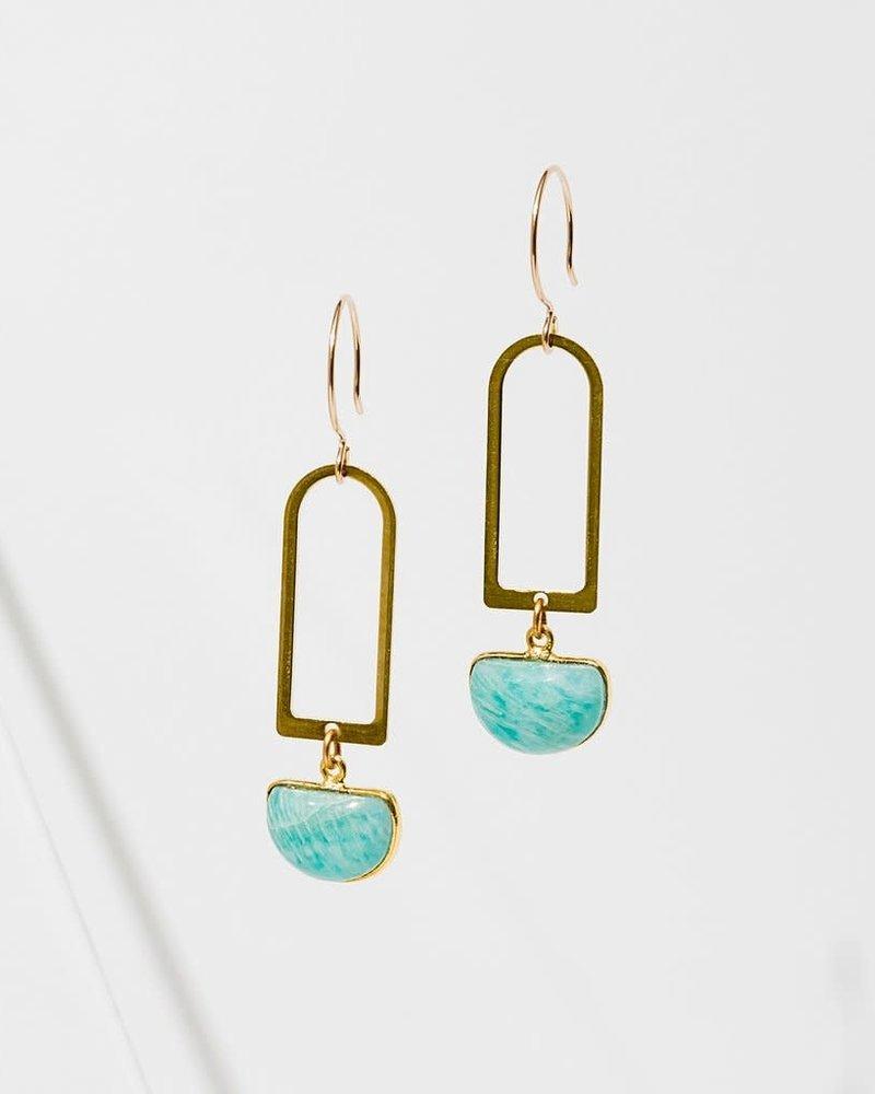 Larissa Loden Larissa Loden Amazonite 'Casablanca' Earrings