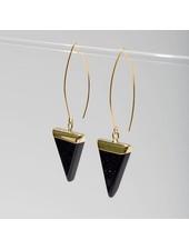 Larissa Loden Blue Goldstone 'Triune' Earrings