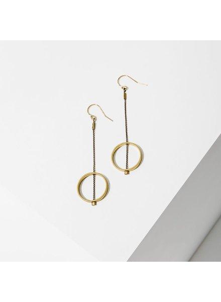 Larissa Loden 'Horizon' Circle Earrings