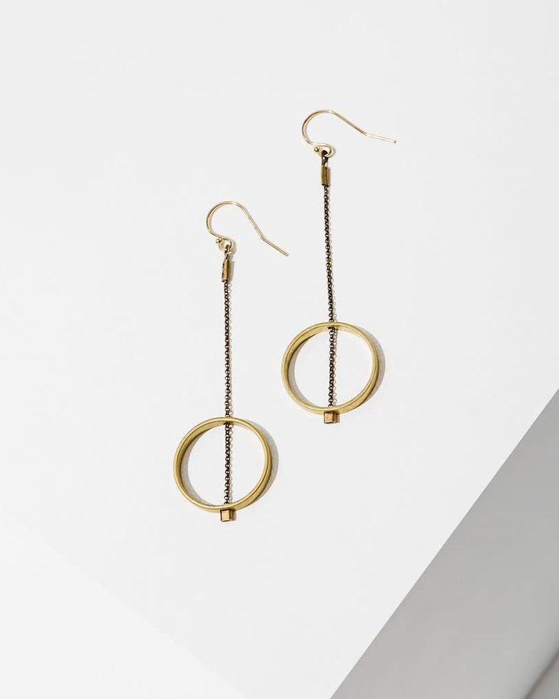Larissa Loden Larissa Loden 'Horizon' Circle Earrings