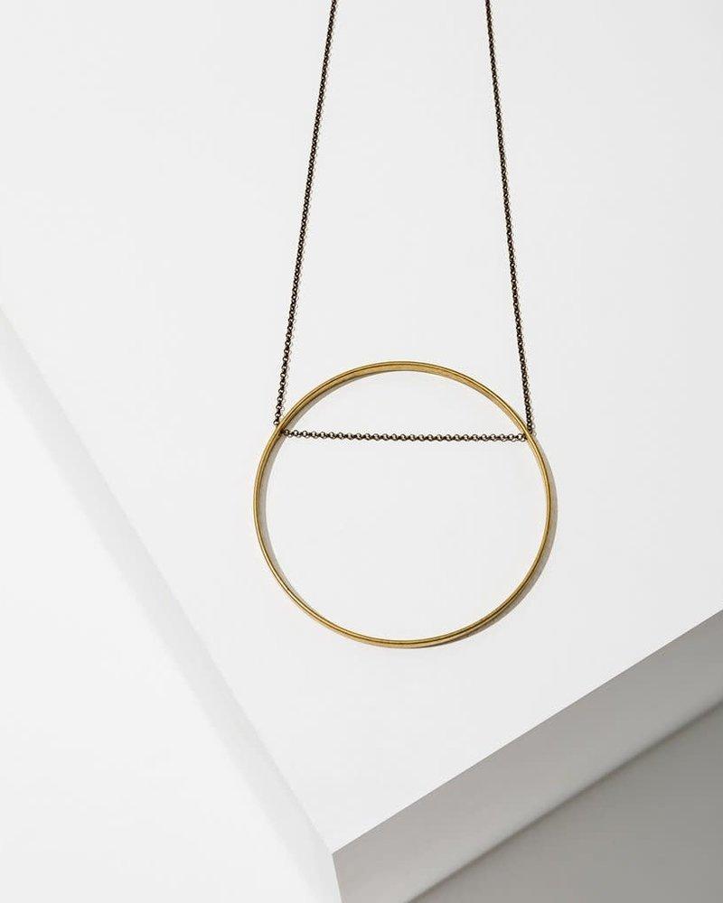 Larissa Loden Larissa Loden Large 'Horizon' Circle Necklace