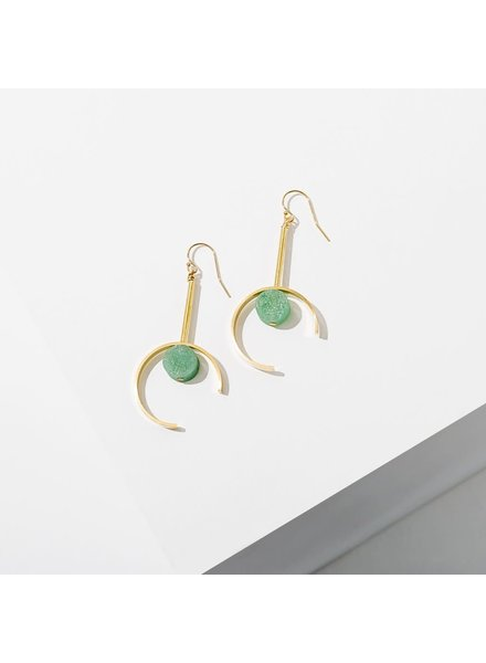 Larissa Loden Green Aventurine 'Santorini' Earrings